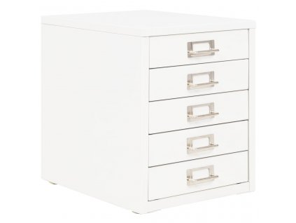 Kancelářská skříň s 5 zásuvkami 28 x 35 x 35 cm kovová bílá