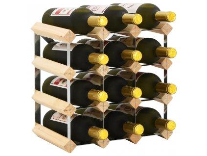 Stojan na víno na 12 lahví masivní borové dřevo