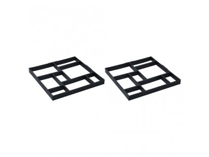 Formy na dlažbu 2 ks 50,4 x 50,4 x 4,3 cm plast