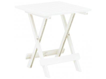 Skládací zahradní stůl bílý 45 x 43 x 50 cm plast