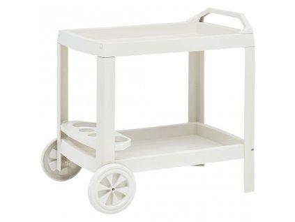 Nápojový vozík bílý 69 x 53 x 72 cm plast