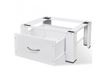 Podstavec pod pračku se šuplíkem, bílý