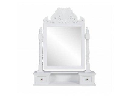 Toaletní stolek s hranatým sklopným zrcadlem MDF