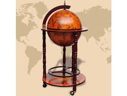 Globus bar stojan na víno eukalyptové dřevo