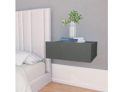 Nástěnný noční stolek šedý 40 x 30 x 15 cm dřevotříska