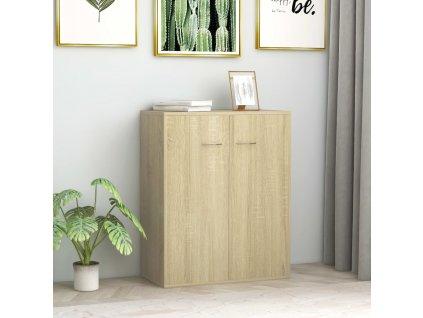 Příborník dub sonoma 60 x 30 x 75 cm dřevotříska