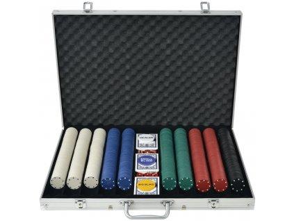 Poker set s 1000 žetony hliník
