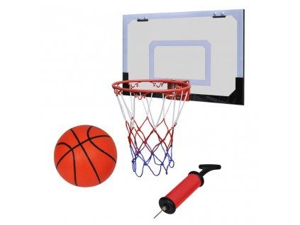 Mini halová sada na košíkovou s košem, míčem a pumpičkou