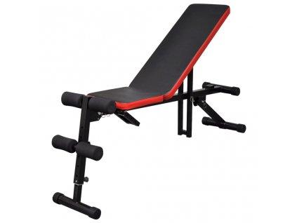 Nastavitelná posilovací lavice na břicho multipolohová