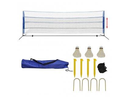 Sada badmintonové sítě a košíčků, 500x155 cm