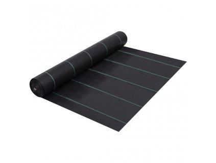 Mulčovací textilie proti plevelu a kořenům černá 2 x 5 m PP