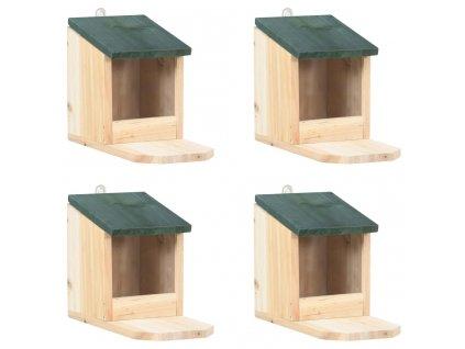 Domeček pro veverky 4 ks jedlové dřevo