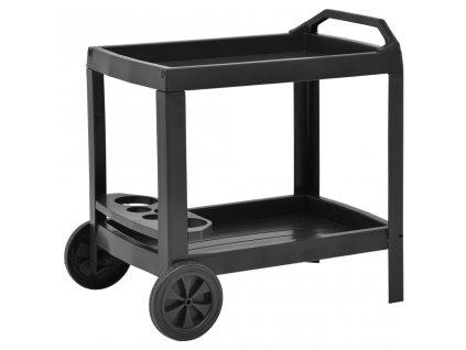 Nápojový vozík antracitový 69 x 53 x 72 cm plast