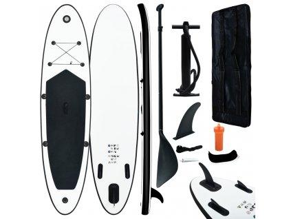 Nafukovací SUP paddleboard černo-bílý