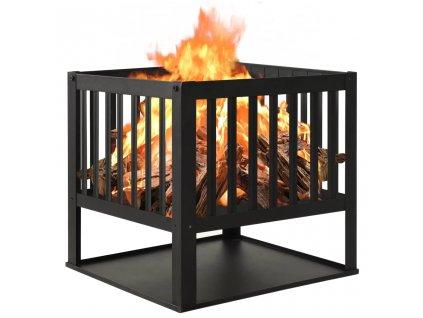Přenosné ohniště 40 x 40 x 40 cm ocel