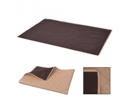 Pikniková deka béžová a hnědá 100x150 cm