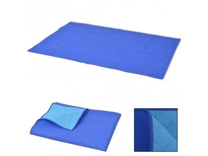 Pikniková deka modrá a světle modrá 100x150 cm