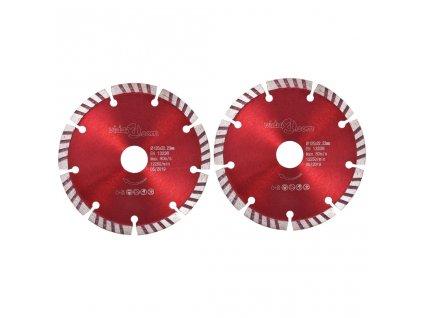 Diamantové řezací kotouče 2 ks turbo ocel 125 mm