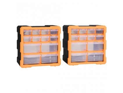 Organizéry s 12 zásuvkami 2 ks 26,5 x 16 x 26 cm