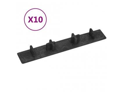Koncové krytky 10 ks černé plast