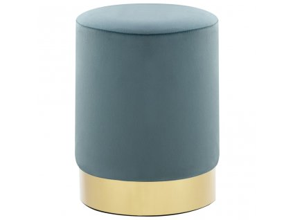Stolička světle modrá a zlatá samet