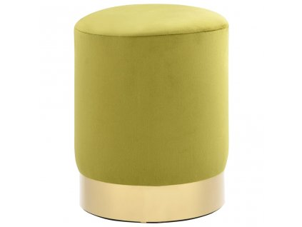 Stolička mechově zelená a zlatá samet