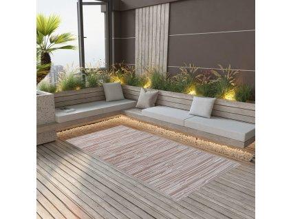 Venkovní koberec hnědý 80 x 150 cm PP