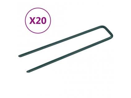 Hřebíky do umělé trávy ve tvaru U 20 ks železo