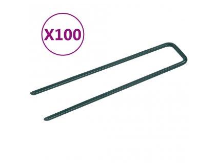 Hřebíky do umělé trávy ve tvaru U 100 ks železo