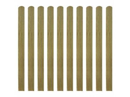 Impregnované plotovky 10 ks dřevo 120 cm