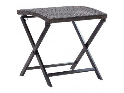 Skládací stolička polyratan hnědá