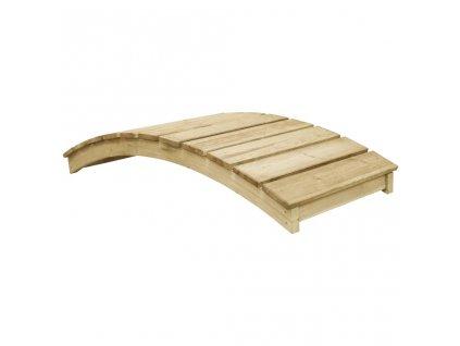 Zahradní můstek 170 x 74 cm impregnované borové dřevo