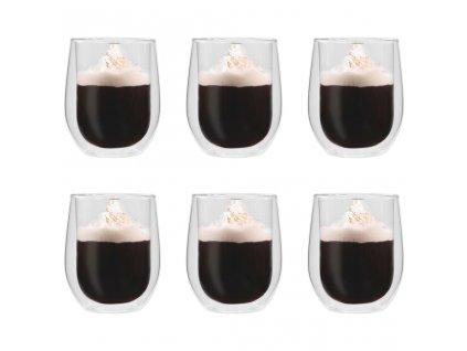 Dvoustěnná termo sklenice na čaj 6 ks 320 ml