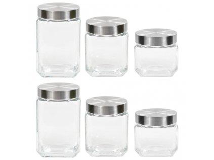 Dózy se stříbrným víčkem 6 ks 800 / 1 200 / 1 700 ml