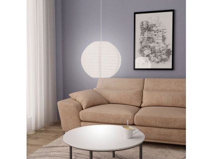 Závěsné svítidlo bílé Ø 45 cm E27