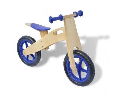 Odrážedlo kolo dřevěné modré