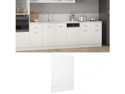 Panel na myčku bílý 45 x 3 x 67 cm dřevotříska