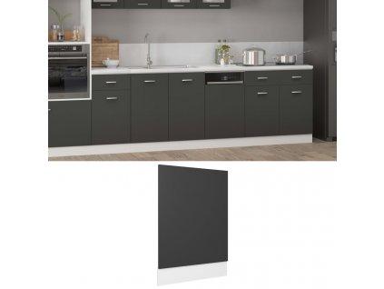 Panel na myčku šedý 45 x 3 x 67 cm dřevotříska