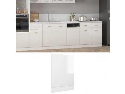 Panel na myčku bílý vysoký lesk 45 x 3 x 67 cm dřevotříska