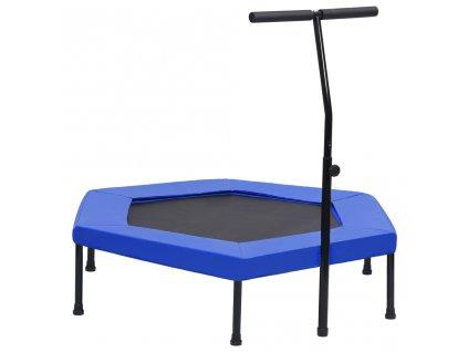 Fitness trampolína rukojeť a podložka šestiúhelník 122 cm