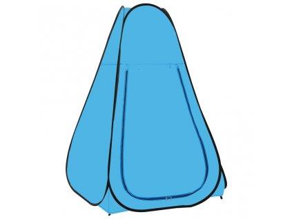 Samorozkládací stan na sprchu modrý