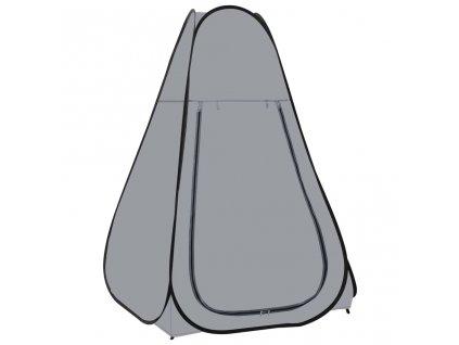 Samorozkládací stan na sprchu šedý