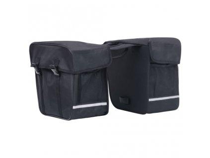 Dvojitá brašna na zadní nosič kola voděodolná 35 l černá