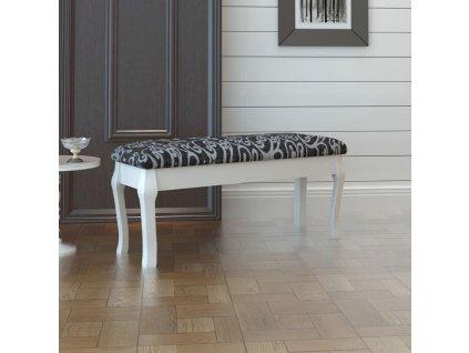 Polstrovaná stolička k toaletnímu stolku dvoumístná, černá, 110 cm