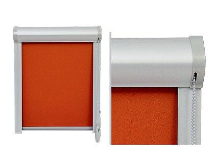 Látková roleta COLLETE s krytem a lištami na okna, šířka mezi 0-400mm (LÁTKA 3. skupina, VÝŠKA do 170cm)