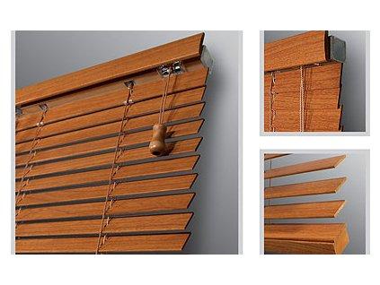 Žaluzie dřevěné KLASIK 25, šířka na míru mezi 501-600mm (VÝŠKA mezi 801-1000mm)