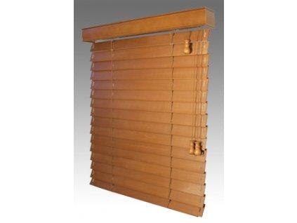 Žaluzie dřevěné KLASIK 50, šířku vyrobíme na míru mezi 601-700mm (VÝŠKA mezi 801-1000mm)