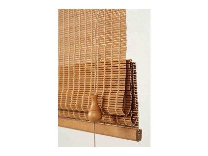 Bambusová římská roleta FEBA šířka do 500mm (TKANINA výběr z B6, D2, D5, VÝŠKA 0-500mm)