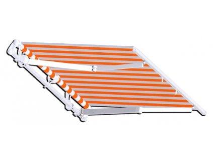 Výsuvná markýza ALANIS, šířku vyrobíme na míru mezi 200-250cm (krycí stříška ne - bez krytu návinu, ovládání klikou vpravo, výsuv 200cm)