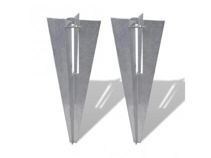 Držáky pro plotové sloupky 2 ks ocel